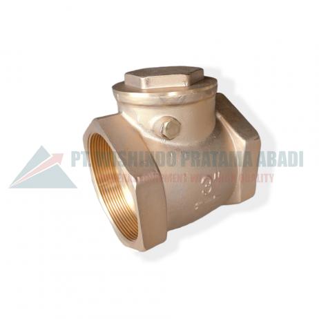 Brass check valve DN80 type 06L sebuah perangkat yang dipasang pada sistem perpipaan yang berfungsi mengatur, mengontrol aliran membuka dan menutup.