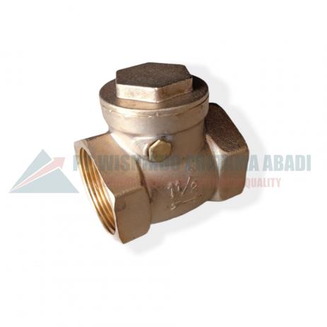 Brass check valve DN40 type 06L sebuah perangkat yang dipasang pada sistem berfungsi untuk mengatur, mengontrol dengan cara membuka dan menutup aliran .