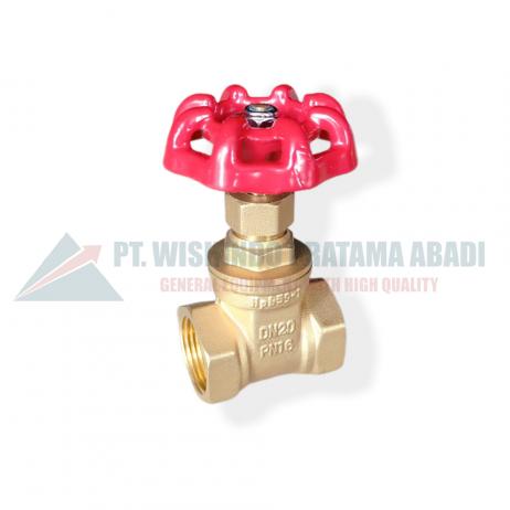Brass gate valve DN20 Jenis ini didesain untuk membuka dan menutup aliran dengan cara tertutup rapat dan terbuka penuh. Brass gate valve DN20